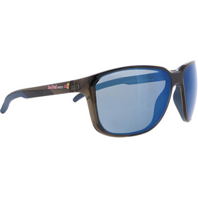 Red Bull SPECT Bolt Sunglasses Men, shiny x'tal grey/smoke-blue mirror
